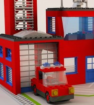 3d-design - Lego Firehouse