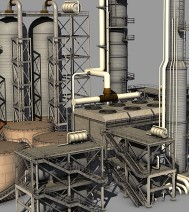3d-design - Oilrefinery