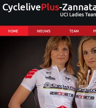 Webdevelopment - CyclelivePlus-Zannata Ladies Team