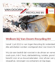 Webdevelopment - Van Doorn Recycling BV